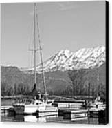 Sailboats At Utah Lake State Park Canvas Print by Tracie Kaska