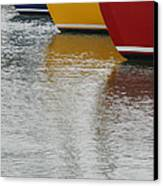 Sailboats In Primary Colors Canvas Print by Julie Bostian