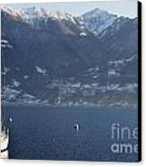 Sailing Boat On A Lake Canvas Print