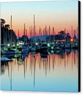 Sailing Boats In Coal Harbour Canvas Print