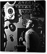 Sailor At Work In The Electric Engine Canvas Print