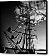 Sails In The Sunset Canvas Print by Hakon Soreide