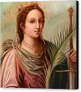 Saint Catherine Of Alexandria Painting Canvas Print