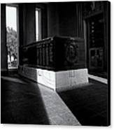 Saint Louis Soldiers Memorial Black And White Canvas Print by Joshua House