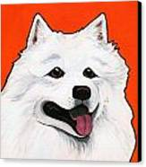 Samoyed Canvas Print by Leanne Wilkes
