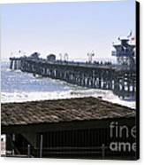 San Clemente Pier California Canvas Print