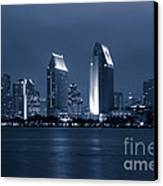 San Diego At Night Canvas Print by Paul Velgos