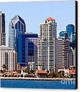 San Diego Skyline Photo Canvas Print by Paul Velgos