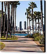 San Diego Skyline With Coronado Island Bayshore Bikeway Canvas Print