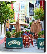 San Francisco - Maiden Lane - Outdoor Lunch At Mocca Cafe - 5d17932 - Painterly Canvas Print
