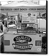 San Francisco - Stanley's Steamers Hot Dog Stand - 5d17929 - Black And White Canvas Print