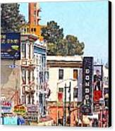 San Francisco Broadway Canvas Print by Wingsdomain Art and Photography