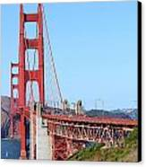 San Francisco Golden Gate Bridge . 7d8157 Canvas Print by Wingsdomain Art and Photography