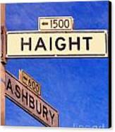 San Francisco Haight Ashbury Canvas Print