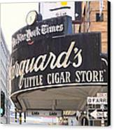 San Francisco Marquard's Little Cigar Store On Powell And O'farrell Streets - 5d17954 - Painterly Canvas Print by Wingsdomain Art and Photography