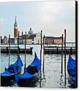 San Giorgio Maggiore And Gondolas Canvas Print