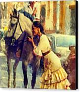 San Miguel Fair In Torremolinos Canvas Print