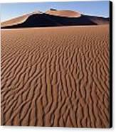 Sand Dunes Against Clear Sky Canvas Print