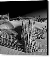 Sand Fence Canvas Print by Jim Dohms