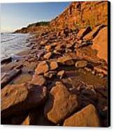 Sandstone Cliffs, Cape Turner, Prince Canvas Print by John Sylvester