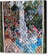 Santa Amelia Waterfall Quilt Canvas Print by Sarah Hornsby
