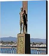 Santa Cruz Surfer Statue Canvas Print by Paul Topp