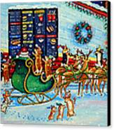 Santa's Pit Stop On  December 24th Canvas Print by Lyn Cook