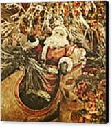 Santa's Vintage Memories Canvas Print