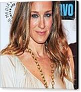 Sarah Jessica Parker At Arrivals Canvas Print by Everett