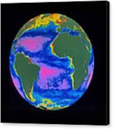 Satellite Image Of The Atlantic Ocean Canvas Print by Dr. Gene Feldman, NASA Goddard Space Flight Center