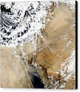 Satellite View Of The Eastern Canvas Print