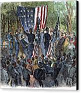 Sc: Emancipation, 1863 Canvas Print by Granger