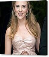 Scarlett Johansson Wearing A Miu Miu Canvas Print