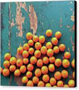 Scattered Tangerines Canvas Print