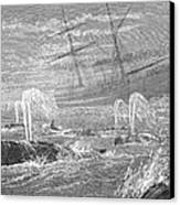 School Of Whales, 1876 Canvas Print by Granger