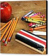 School Supplies  Canvas Print