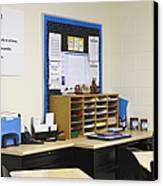 School Teachers Desk Canvas Print by Skip Nall
