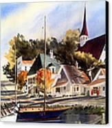 Scotia Princess ---annapolis N.s. Canvas Print by Don F  Bradford