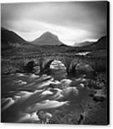 Scotland Sligachan River Canvas Print by Nina Papiorek