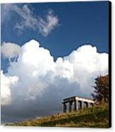 Scottish National Monument On Calton Hill Canvas Print by Steven Gray