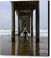 Scripps Pier Surfer 3 Canvas Print