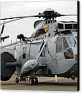 Sea King Helicopter Of The Royal Navy Canvas Print by Luc De Jaeger