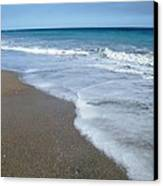 Seascape Wrightsville Beach Nc  Canvas Print by Joan Meyland