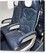 Seats On An Airliner Canvas Print