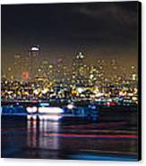 Seattle Skyline Firework Panorama Canvas Print by Dmitry Grekov