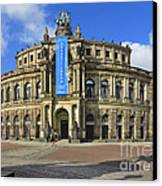 Semper Opera House - Semperoper Dresden Canvas Print by Christine Till