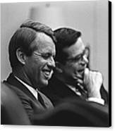 Sen. Robert Kennedy And Ted Sorenson Canvas Print by Everett