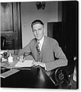 Senator Gerald P. Nye 1892�1971 U.s Canvas Print by Everett