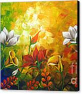 Sentient Flowers Canvas Print by Uma Devi