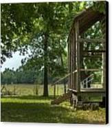 Settlers Cabin Arkansas 1 Canvas Print by Douglas Barnett